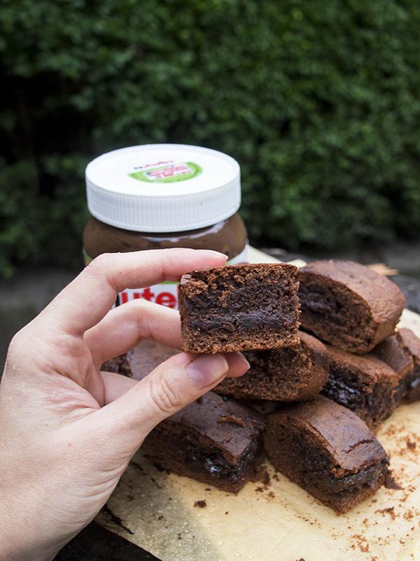 raz, dwa, trzy, 3 składnikowe brownie z nutelli, nerdycookin